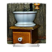 Kitchen - Retro Coffee Maker Shower Curtain