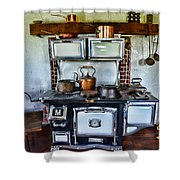 Kitchen - The Vintage Stove Shower Curtain