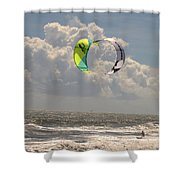 Kite Boarding Buxton Obx  Shower Curtain