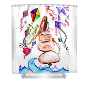 Kite Cather Shower Curtain