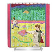 Kite Day Shower Curtain