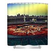 Kite Hill Sundial Shower Curtain