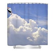 Kite In The Clouds Obx Buxton North Carolina Shower Curtain