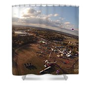 Kites Over Carnival Shower Curtain