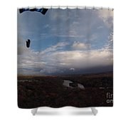 Kite Over The Kankakee Shower Curtain