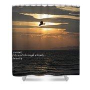 Kite Sunset - Haiku Shower Curtain