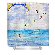 Kite Surfer Shower Curtain