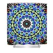 Kite Tiles Mandala Shower Curtain