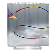 Kites And Clouds Shower Curtain