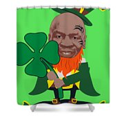 Kith Me I'm Irith Funny Novelty Mike Tyson Inspired Design For St Patrick's Day Shower Curtain