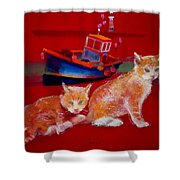 Kittens On The Beach Shower Curtain
