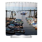 Kittery Point Fishing Boats Shower Curtain