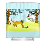 Kitty And The Mouse Shower Curtain
