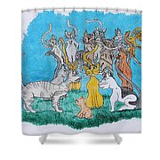 Kitty Confusion Shower Curtain