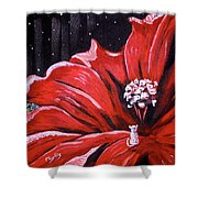 Kitty Flower Shower Curtain
