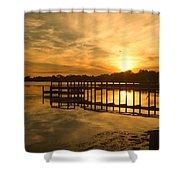 Kitty Hawk Sunset 2 Shower Curtain