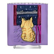 Kitty Loaf Shower Curtain