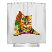 Kitty Love. Pet Series Shower Curtain