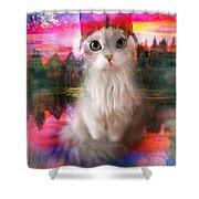 Kitty Shower Curtain