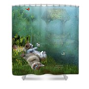 Kitty Wishes Shower Curtain
