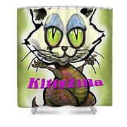 Kittyzilla Shower Curtain