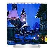 Kitzbuhl At Night-4 Shower Curtain