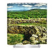 Kiva And View Pecos Ruins New Mexico Shower Curtain
