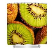 Kiwi Fruit Shower Curtain by Nancy Mueller