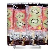 Kiwi Pops Shower Curtain by Glennis Siverson