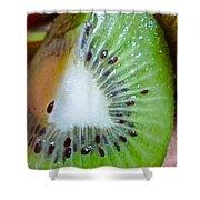 Kiwi Seed Display Shower Curtain