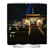 Kiyomizu-dera At Night Shower Curtain