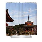 Kiyomizu-dera In Bloom Shower Curtain