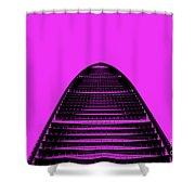 Kk100 Shenzhen Skyscraper Art Pink Shower Curtain