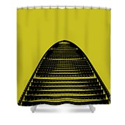 Kk100 Shenzhen Skyscraper Art Yellow Shower Curtain