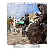 Kleizmer Band In Bronze Shower Curtain