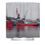 Kleven Yard Norway Shower Curtain