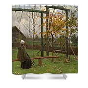 Klever, Yuli The Younger 1882-1942 Autumn Twilight Shower Curtain