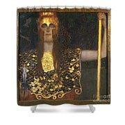 Klimt - Pallas Athena 1898 Shower Curtain