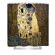 Klimt: The Kiss, 1907-08 Shower Curtain
