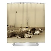 Knapps Narrows Tilghman Island Shower Curtain