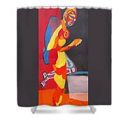 Kneeling Shower Curtain