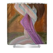 Kneeling Lady  Shower Curtain