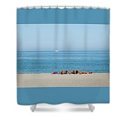 Knees Up Shower Curtain