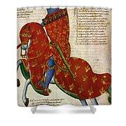 Knight, 14th Century Shower Curtain
