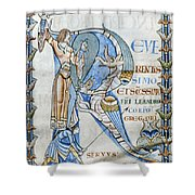 Knight And Monster Shower Curtain