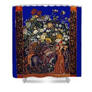 Knight Blossoms Shower Curtain