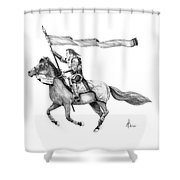 Knight In Armor Shower Curtain