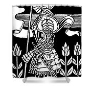 Knight Of Arthur, Preparing To Go Into Battle Shower Curtain