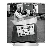 Knight Of The Bath Shower Curtain