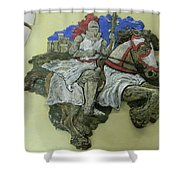 Knight Of Wands Shower Curtain